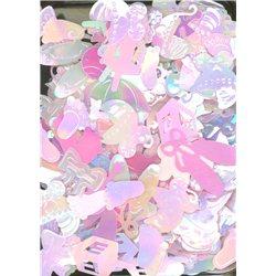 Flitry MIX tvarů 3386-3068 světle růžová AB