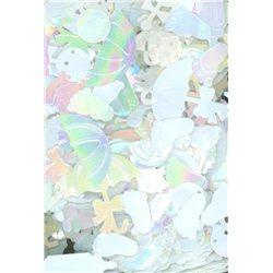 Flitry MIX tvarů 3386-508 bílá AB
