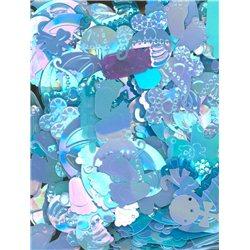 Flitry MIX tvarů 3386-2447 modrá AB