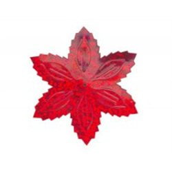 Flitry - červená hvězda s dírkou 1433-163  vánoční hvězda 5 g