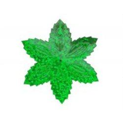 Flitry - zelená hvězda s dírkou 1433-164  vánoční hvězda 5 g