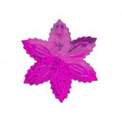 Flitry - růžová hvězda s dírkou 1433-228  vánoční hvězda 5 g