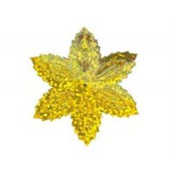 Flitry - zlatá hvězda s dírkou 1433-183  vánoční hvězda 5 g