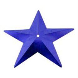Flitry - modrá hvězda s dírkou 329-312  hvězda 5 g