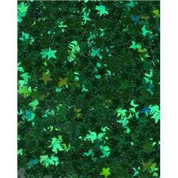 Flitry - drobné zelené hvězdičky 6689-011  hvězdička 5 g
