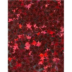 Flitry - drobné červené hvězdičky 6689-020  hvězdička 5 g
