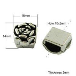 KVĚTINA - kovový korálek L2702
