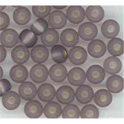 Rokail (rokajl) fialová se stříbrem/M, vel. 5/0 (4,5 mm) č. 184S balení 50g 50 g