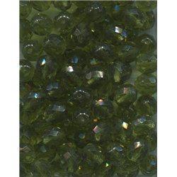 Broušené korálky 10 mm 50230 olivín bal. 50 ks