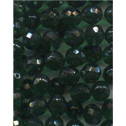 Broušené korálky 12 mm 50300 tm. zelená bal. 10 ks
