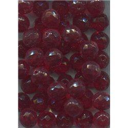 Broušené korálky 12 mm 90080 červená siam bal. 10 ks