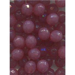 Broušené korálky 12 mm 71010 růžový opál bal. 10 ks