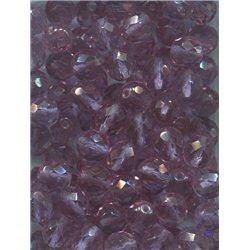Broušené korálky 10 mm 70480 fialovo-rúžová bal. 50 ks
