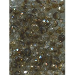 Broušené korálky 8 mm 17008 topaz/krystal bal. 50 ks