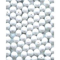 Broušené korálky 8 mm 03000 bílá křída bal. 50 ks