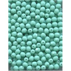 Broušené korálky 6 mm 53120 tyrkysové bal. 120 ks