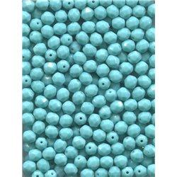Broušené korálky 6 mm 63120 tyrkys bal. 120 ks