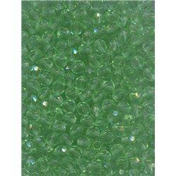 Broušené korálky 6 mm 50520 sv. zelená bal. 120 ks