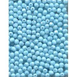Broušené korálky 5 mm 63020 tyrkys bal. 100 ks