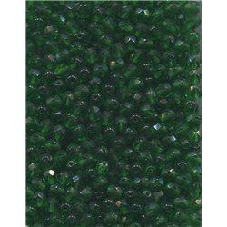 Broušené korálky 5 mm 50140 tmavě zelená bal. 100 ks