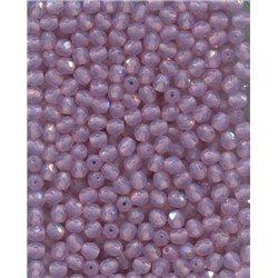 Broušené korálky 5 mm 71010 růžový opál bal. 100 ks