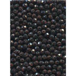Broušené korálky 5 mm 85012 tm. hnědá bal. 100 ks