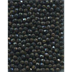 Broušené korálky 5 mm 95012 tm. hnědá bal. 100 ks