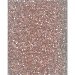 Broušené korálky 4 mm 70120 sv. růžová bal. 100 ks