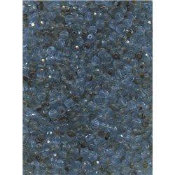 Broušené korálky 4 mm 38036 modrohnědá bal. 100 ks