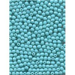 Broušené korálky 4 mm 63120 tyrkys bal. 100 ks