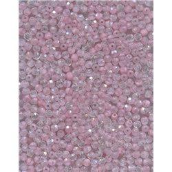 Broušené korálky 3 mm 76028 růžová-krystal bal. 100 ks