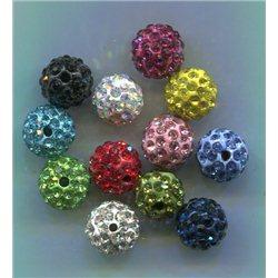 Korálky s kamínky, štrasové kuličky L2953