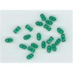 Korálky skleněné mačkané Bi-beads, 2-dírové, 2,8 x 5,5 mm 50710