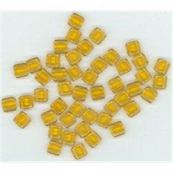 Korálky skleněné mačkané - Čtvereček, 2-dírový 111-30-516 6 mm 10070