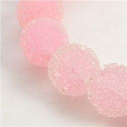 skleněný korálek průměr 12 mm,mix barev G růžová
