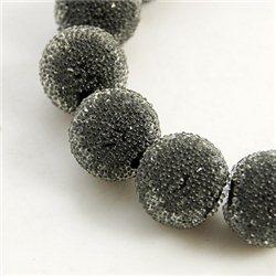 skleněný korálek průměr 12 mm,mix barev D černá