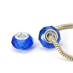 Velkodírový korálek , modrý L3043