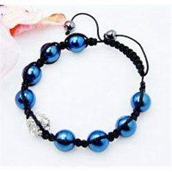 Náramek Shamballa L3065 modrá