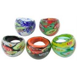 Prsten, prstýnek  skleněný L2050