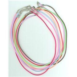 Gumový náhrdelník L2432 růžová