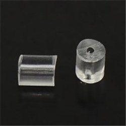 Zarážka bižuterní, pryžová k náušnicím L1009 B, bal.10 ks