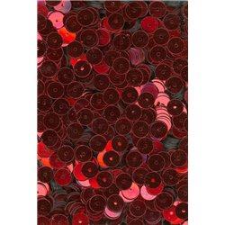 červené  flitry 6 mm rovné 6699-020 bal. 3 g (cca375ks)