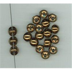 Mačkané korálky , 111-95-031 9x8mm 23980-14415, balení 10g balení 10 g , orientačně 14 ks