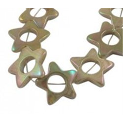 Korálek z perleťoviny- hvězda  L3208