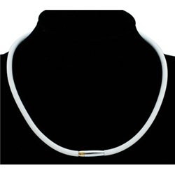 Kaučukový náhrdelník-magnetické zapínání  L3240  bílý