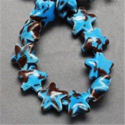 Porcelánový korálek, hvězdička L3210
