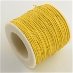 Provázek voskovaný bavlněný L3338I, role - 91,4m žlutá