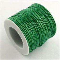 Provázek voskovaný bavlněný L3338O, role - 91,4m zelená tmavá