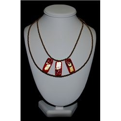 Náhrdelník z vinutých perlí A1087