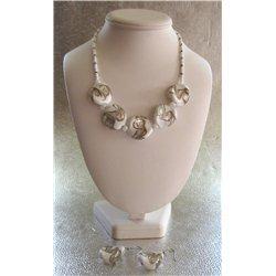 Set náhrdelník a náušnice z vinutých perlí A1101
